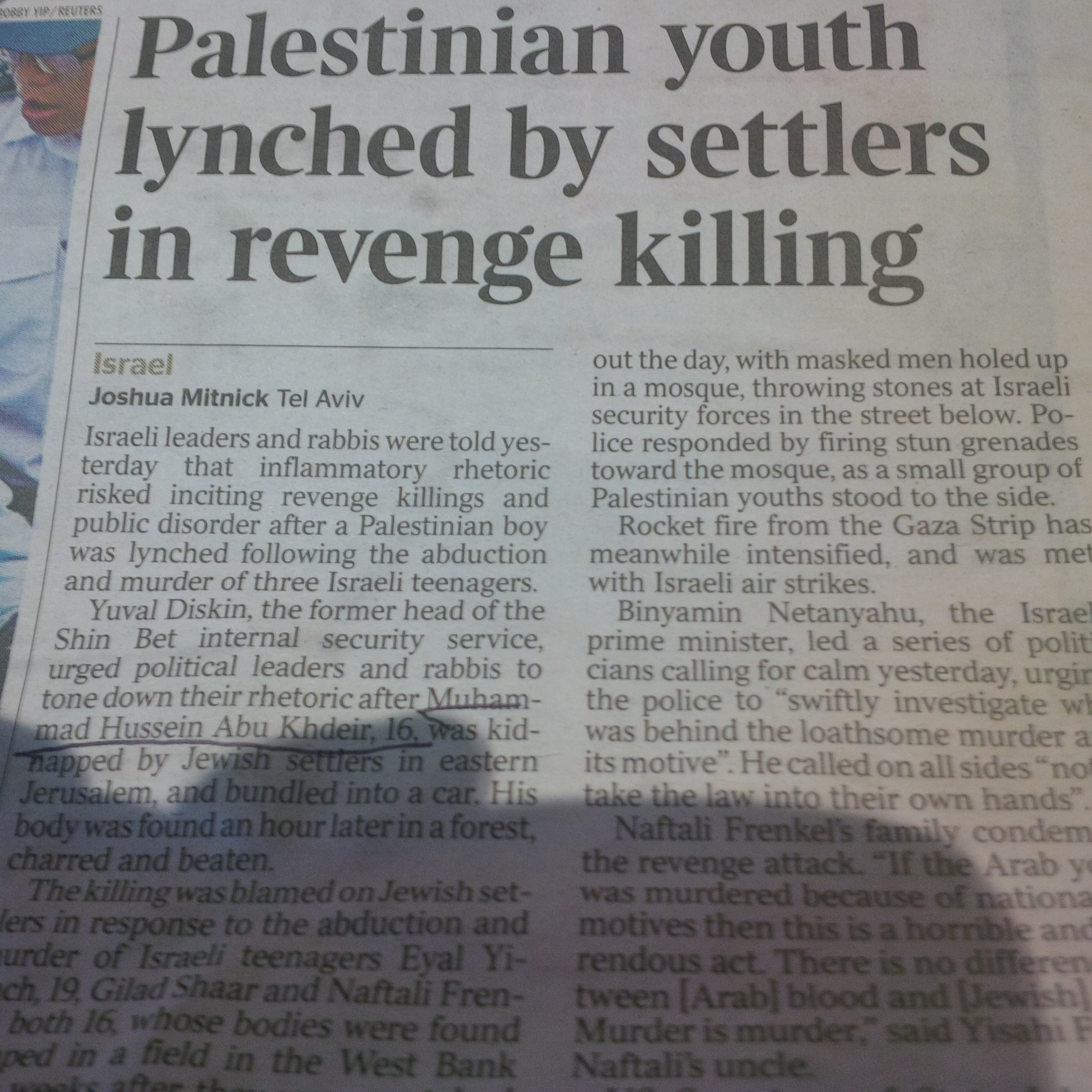 Times of London leads the pack with worst headline on murdered Palestinian