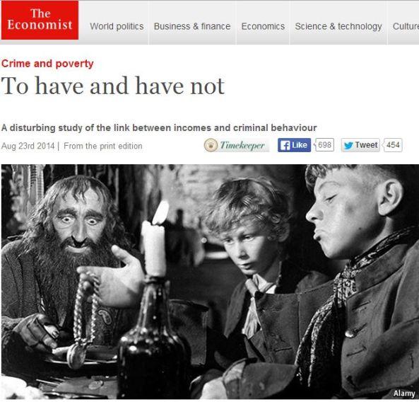 Economist uses 'Fagin the Jew' to illustrate article on criminal behavior