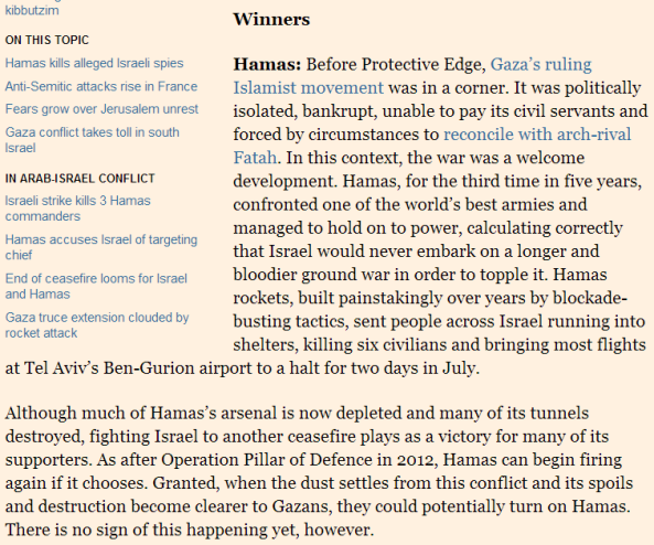 Financial Times correspondent John Reed declares Hamas a 'winner'