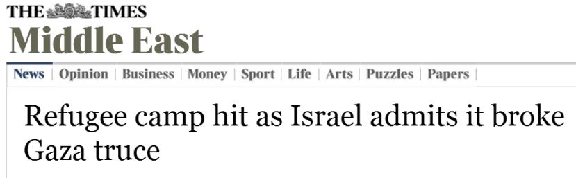 headline times of london