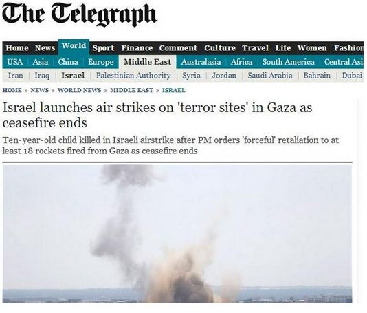 Have pro-Hamas trolls taken over the Telegraph's headline writing?