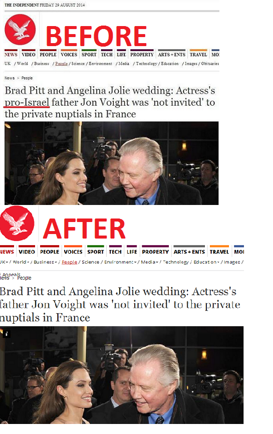 What do Angelina Jolie & Mira Bar-Hillel have in common? Both caused Indy headline fails