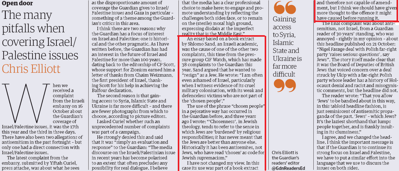 """The chosen blog? Guardian gives a shout out to """"pressure group"""" called CiF Watch"""