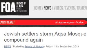 Website of Friends of al-Aqsa Mosque (FOA)