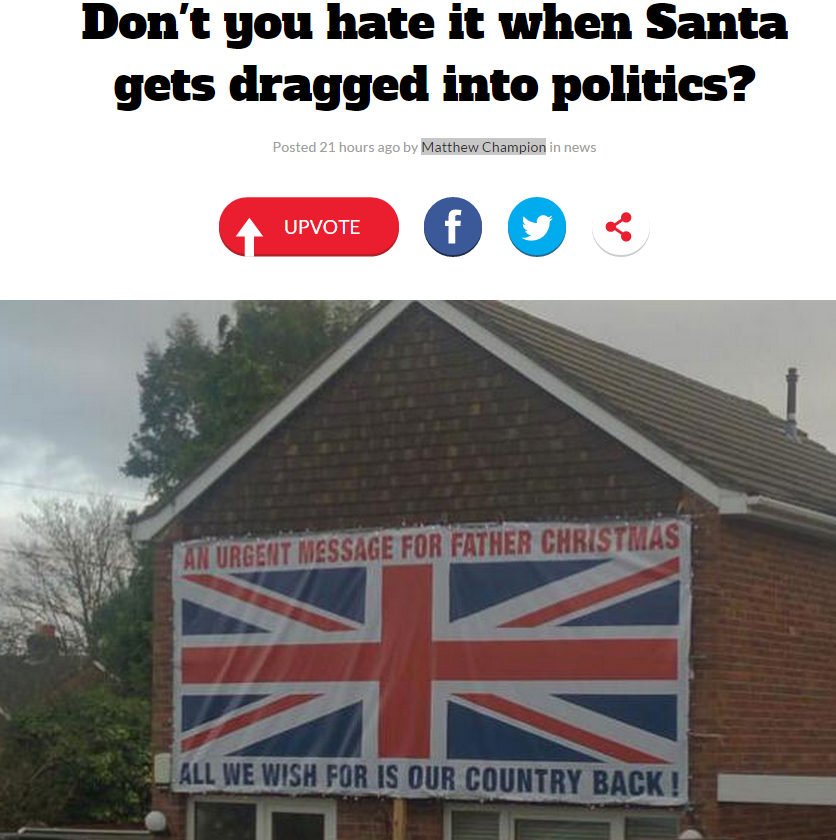 """Don't you hate it when Santa gets dragged into politics?"""
