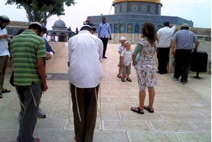 Who are the extremists? Jews praying at their holiest site, or Muslims objecting to peaceful Jewish prayer?