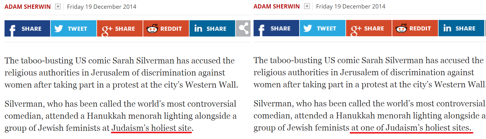 Another media outlet misidentifies Judaism's holiest site