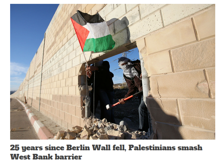 UK media absurd political analogy watch: The Berlin Wall & Israel's Security Barrier