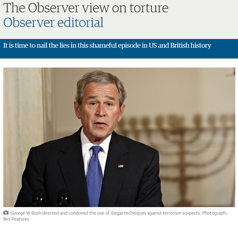 Guardian editorial condemning CIA torture curiously includes image of a Jewish menorah
