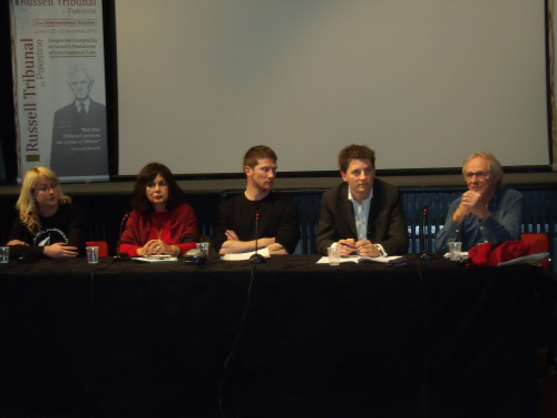 Ken Loach (far right) attacking Israel, Israelis and Ben Gurion at Amnesty International in 2010