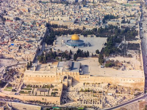 Israel-2013(2)-Aerial-Jerusalem-Temple_Mount-Temple_Mount_(south_exposure)