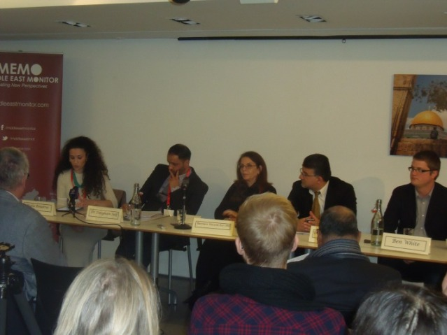 Richard Millett queries Israeli Arab MK at London event through torrent of abuse.