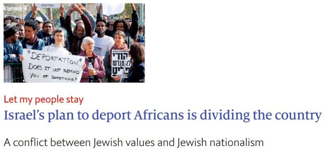 "Economist falsely suggests Israeli historian compared African detention centers to ""concentration camps""."