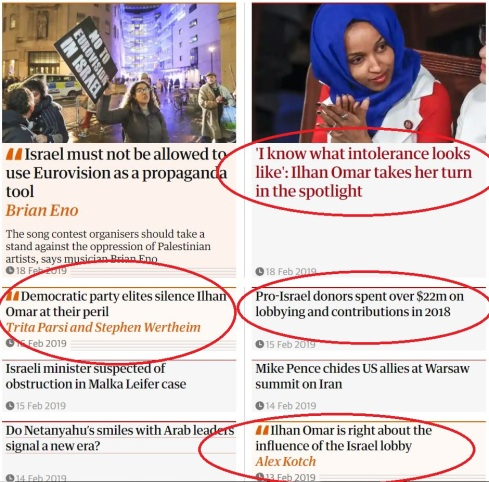 Guardian promotes view that racism is behind criticism of Ilhan Omar Omar-support