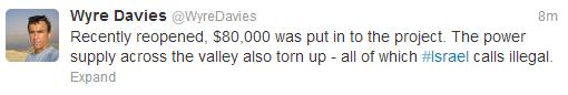 Davies tweet 2013 Beit Jala 2